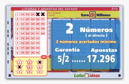 Euromillones - Combinación al directo de solo 2 números