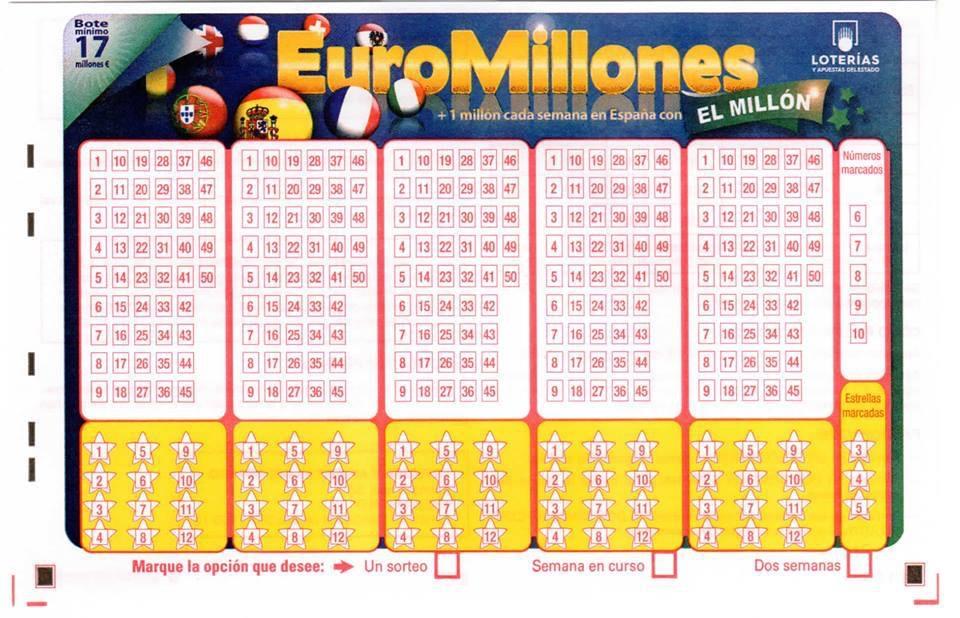 Nuevo boleto de euromillones